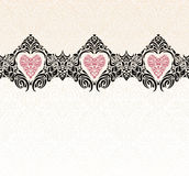 Rocznik poślubia nowożytnego zaproszenie tapety tło Zdjęcie Royalty Free