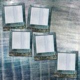 Rocznik pocztówka z obruszeniami na starych cajgach Zdjęcia Stock