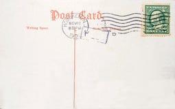 Rocznik pocztówka z USA jeden centu znaczek pocztowy Zdjęcie Stock
