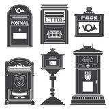 Rocznik poczta Uliczne poczta i Listowi pudełka Obrazy Stock