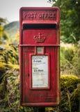 Rocznik poczta Wiejski Brytyjski pudełko Fotografia Stock