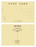 Rocznik pocztowa karta od Alabama Zdjęcia Stock