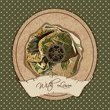 Rocznik pocztówka z kwiatem Zdjęcie Royalty Free