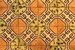 Rocznik podłogowe płytki w San Pantaleone katedrze, Ravello, Włochy obraz royalty free