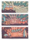Rocznik podróży i lata sztandary ilustracji