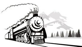 rocznik podróży pociągu Fotografia Royalty Free