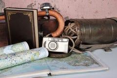 Rocznik podróży tło Fotografia Stock