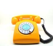 Rocznik pomarańcze telefon Zdjęcie Stock