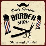 Rocznik Projektujący fryzjera męskiego sklep Fotografia Stock