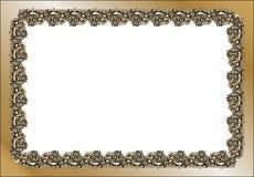 Rocznik prostokątna rama Zdjęcia Stock