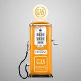 Rocznik przyglądająca benzynowa pompa Obraz Royalty Free