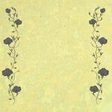 Rocznik róży granica z kopii przestrzenią Zdjęcia Stock
