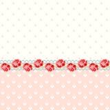 Rocznik róże z polek kropkami Fotografia Stock