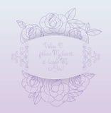Rocznik róż karcianego bukieta romantyczne wycena Fotografia Royalty Free