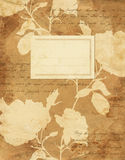 Rocznik róż notatnika kwiecista pokrywa Zdjęcie Stock