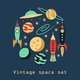 Rocznik rakiety przestrzeni set Zdjęcia Royalty Free