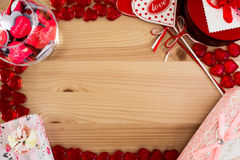 Rocznik rama dla miłość wiadomości Obraz Royalty Free