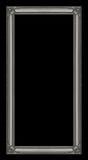 Rocznik rama odizolowywająca na białym tle z ścinek ścieżką Zdjęcie Stock