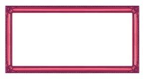 Rocznik rama odizolowywająca na białym tle z ścinek ścieżką, Obraz Royalty Free