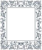 Rocznik rama z kwiecistymi elementami Obraz Royalty Free