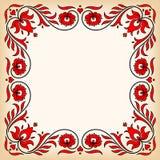 Rocznik rama z tradycyjnymi Węgierskimi kwiecistymi motywami Obraz Stock