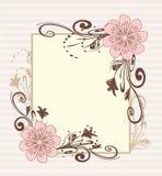 rocznik ramowy dekoracyjny wektor Obraz Stock