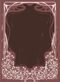 rocznik ramowy kwiecisty Obrazy Royalty Free