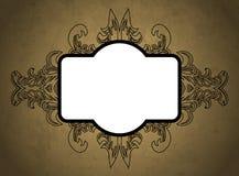 rocznik ramowy kwiecisty Element dla projekta Obrazy Royalty Free