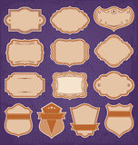 Rocznik ramy etykietka Ustawiający wektor Fotografia Royalty Free