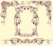 Rocznik ramy kąty ilustracji