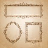 Rocznik ramy na starym papierze Obraz Royalty Free
