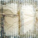 Rocznik ramy, papierowa tekstura Obrazy Royalty Free
