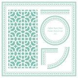 Rocznik ramy wzór Ustawia 211 islamu Gwiazdowego krzyż Zdjęcie Royalty Free