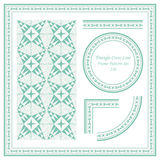 Rocznik ramy wzór Ustawia 226 ręk Rysującą trójboka krzyża linię Obraz Royalty Free