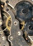 Rocznik Rdzewiejący zegarka Kieszeniowego zegarka czasu kawałka Vertical sztandar Obrazy Royalty Free