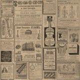 Rocznik reklamy gazety tekstura Obrazy Royalty Free