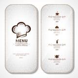 Rocznik restauraci menu Obraz Royalty Free