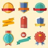 Rocznik, retro płaskie odznaki, etykietki Zdjęcia Royalty Free