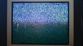 Rocznik retro stylowa stara telewizja bez sygnału zbiory wideo