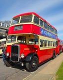Rocznik rewolucjonistka i śmietanki Bristol K5G Dwoistego Decker autobus Fotografia Stock