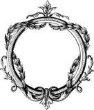 Rocznik round rama ilustracji