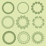 Rocznik round ramy - ilustracja Zdjęcie Royalty Free