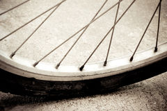 Rocznik rowerowy koło Obrazy Stock