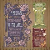 Rocznik rzeczy: etykietki sztuka Nouveau royalty ilustracja