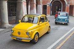 Rocznik samochodowy Fiat 500 Abarth Obraz Stock