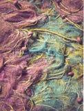 Rocznik sieci rybackie dla tła Obrazy Royalty Free