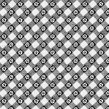 Rocznik sprawdzać kwiecisty czarny i biały tło Zdjęcia Stock