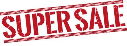 Rocznik sprzedaży super znaczek na białym tle Obraz Stock