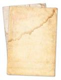 Rocznik stara papierowa tekstura odizolowywająca Zdjęcie Stock