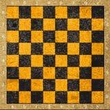 Rocznik stara porysowana pusta szachowa deska Zdjęcia Royalty Free